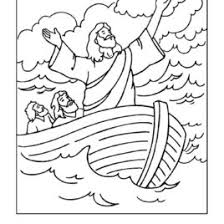 Jesus Calms The Storm Coloring Pages AZ