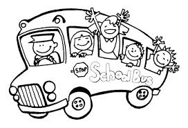 School Bus Coloring Pages Clipart Panda Images Kids For Sunday Medium Size