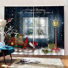 weihnachten muster wohnzimmer fenster vorhänge balkon vorhänge dekor 2 panels