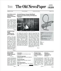 Old Newspaper Template Google Drive Design Pattern C Free