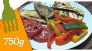 cuisiner legumes recette de légumes grillés à la plancha 750 grammes