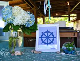 Baby Shower Table Decoration Nautical Baby Shower Table