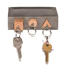 simple interior decor with small key holder wall mount three hook