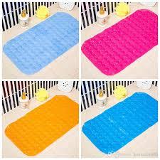 großhandel 35 65 cm badematten anti rutsch matte badezimmer durchbohrt pvc safe pad mit saugnäpfen bad rutschfeste matte badezimmer
