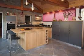 cuisine gris ardoise cuisine moderne lea espace cuisson en ilot central