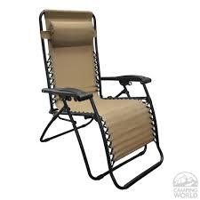 decorating caravan sports infinity zero gravity recliner in beige