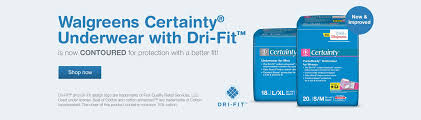 Walgreens CertaintyR Underwear With Dri FitTM Is Now CONTOURED
