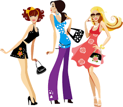 gallery for u003e lady shopping clipart