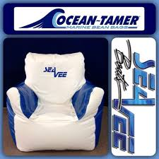 Ocean Tamer Armchair Marine Bean Bag With A Custom SeaVee Boats Logo