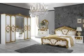 barock schlafzimmer samanta in weiss gold 6 teilig