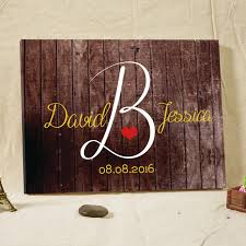 Wedding Decorations Rustic Guestbook Welcome Boards Canvas Painting With Frame Wall Art Gifts Custom