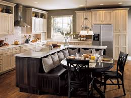 L Shaped Kitchen With Island Booth Seating
