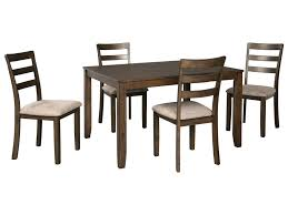 Drewing 5-Piece Dining Table And Chair Set By Benchcraft By Ashley At Royal  Furniture Hever Ding Table With 5 Chairs Bench Chelsea 5piece Round Package Aqua Drewing And Chair Set By Benchcraft Ashley At Royal Fniture Trudell Upholstered Side Signature Design Dunk Bright Lawson Piece Includes 4 Liberty Darvin Barzini Black Leatherette Coaster Value City Pc Kitchen Set A In Buttermilk Cherry East West The District Leaf Intercon Wayside Grindleburg Vesper Round Marble Ding Table Piece Set Brnan Amazoncom Tangkula Pcs Modern Tempered