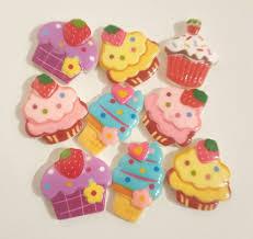 Cabochon Resin Cupcake