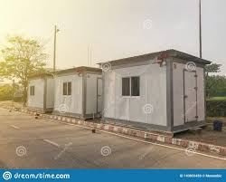 100 How To Build A House With Shipping Containers Container Temporary Office Stock Image Image Of