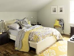 The Trick To Mixing Prints In Your Home Gray Yellow BedroomsGrey
