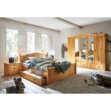 landhaus schlafzimmer set aus kiefer massivholz doppelbett 4 teilig
