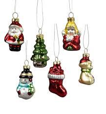 Sass Belle Set Of 6 Retro Glass Christmas Tree Decorations