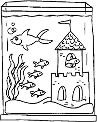 To Print Fish Tank Coloring Page 66 In Line Drawings With