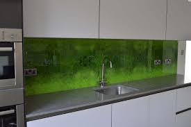 Green Moss Printed Kitchen Glass Splashback Collections Of Images Directly Onto The Back