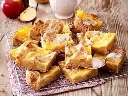apfel streuselkuchen mit gebackener vanillesoße rezept