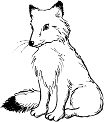Fox clipart black and white Pencil and in color fox clipart