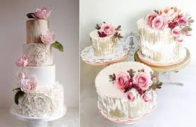 Distressed Gold Wedding Cakes Antique Style By The Cake Whisperer Left Firefly India Right