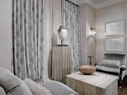 grey shabby chic living room blue morroccan pattern carpet wall