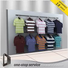Cloth Display Rack Men Wall Stand Clothing T Shirt Stands