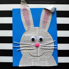 How To Make A Newspaper Bunny Craft