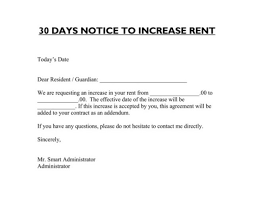 Sample rent increase letter 30 day notice 1 650 508 luxury