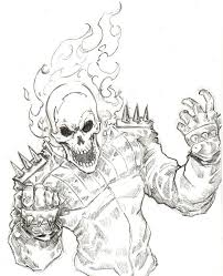 Cool Ghost Rider Coloring Pages