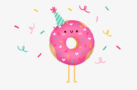 Cute Donut Pattern And Ribbons Clipart PNG Image