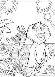 Alex And Marty Madagascar Coloring Pages