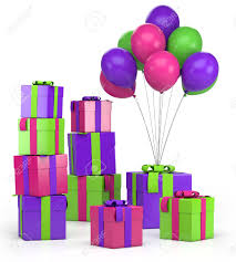 Piles Presents And Balloons