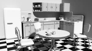 1950s Kitchen Black And White