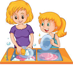 wash dishes clipart 8
