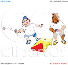 Clipart Caucasian And Black Man Playing Cornhole Bean Bag Toss Picture Of Bags Ball Chair White