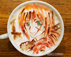 Anime Manga Latte Art By Belcorno