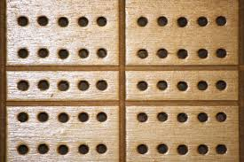 Wooden Cribbage Board With Peg Holes Texture