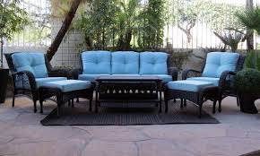 Teal Living Room Set by Chill 6 Pc Outdoor Living Room Furniture The Dump America U0027s