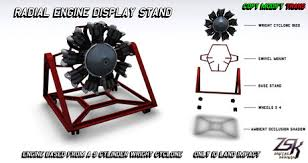 ZSK Radial Engine Display Stand Version 1
