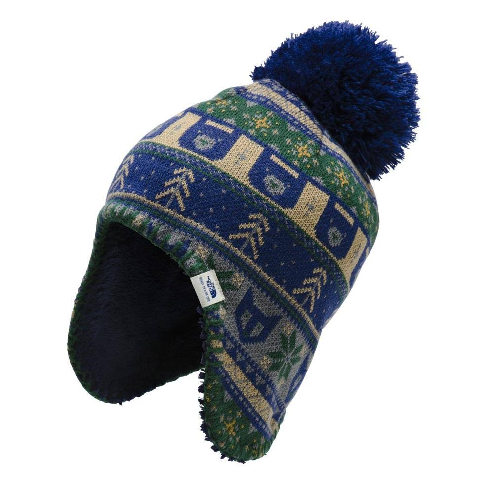 The North Face Baby Faroe Beanie Flag Blue Night Green Multi / XXS