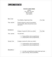 blank resume format free Roho 4senses