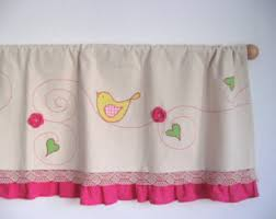 Pink Ruffled Window Curtains by Baby Nursery Decor Bohemian Chic Kitchen Baby Nursery Curtains