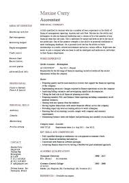 Sample Cpa Resume Example Resumes Accounting Examples