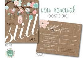 Vow Renewal Invitation Mason Jar Postcard Wedding