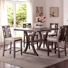 Elegant 5 Piece Dining Room Sets by Tremendeous Infini Furnishings Adele 5 Piece Counter Height Dining