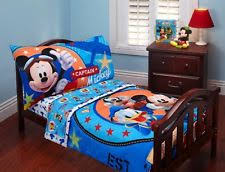 mickey mouse toddler bed set ebay