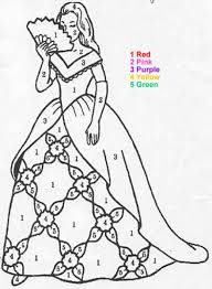 Princess Color By Number Coloring Page Print Out And This